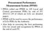 procurement performance measurement system ppms
