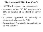the amended ppda law cont d