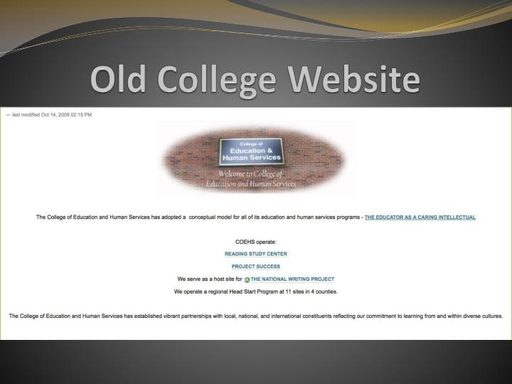 Old College Website
