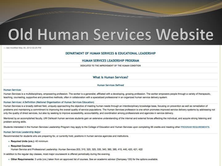 Old Human Services Website