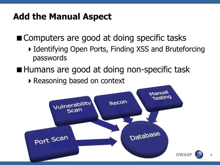 Add the Manual Aspect