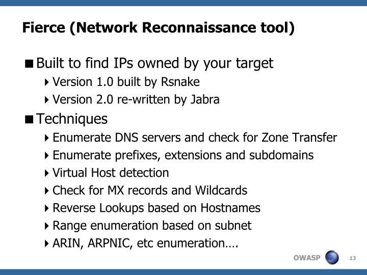 Fierce (Network Reconnaissance tool)