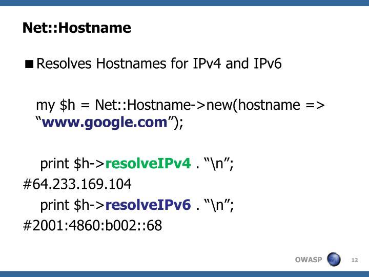 Net::Hostname