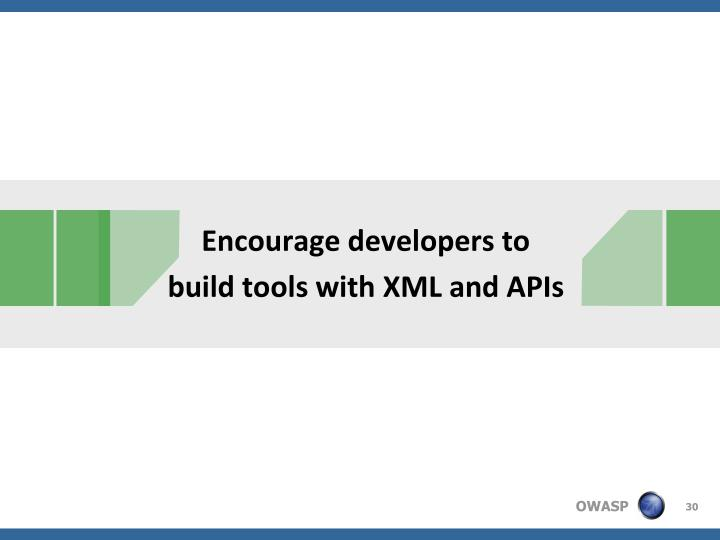 Encourage developers to