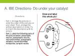 a ibe directions do under your catalyst