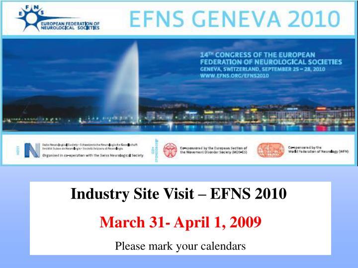 Industry Site Visit – EFNS 2010
