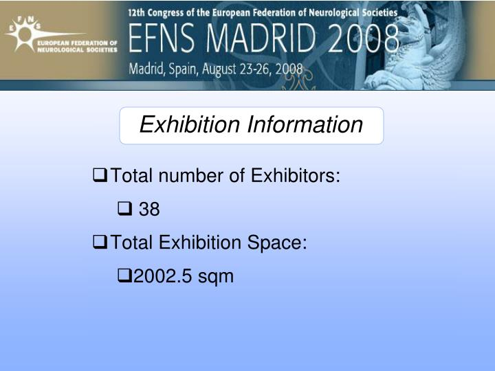 Total number of Exhibitors: