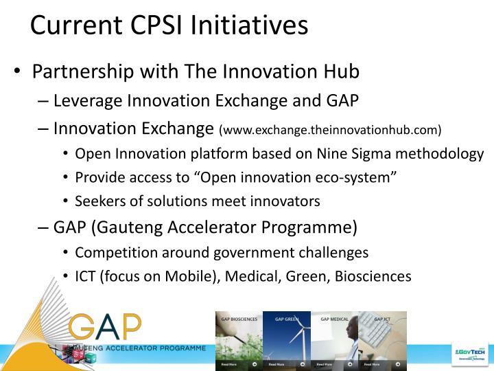Current CPSI Initiatives
