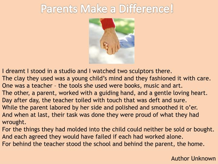 Parents Make a Difference!