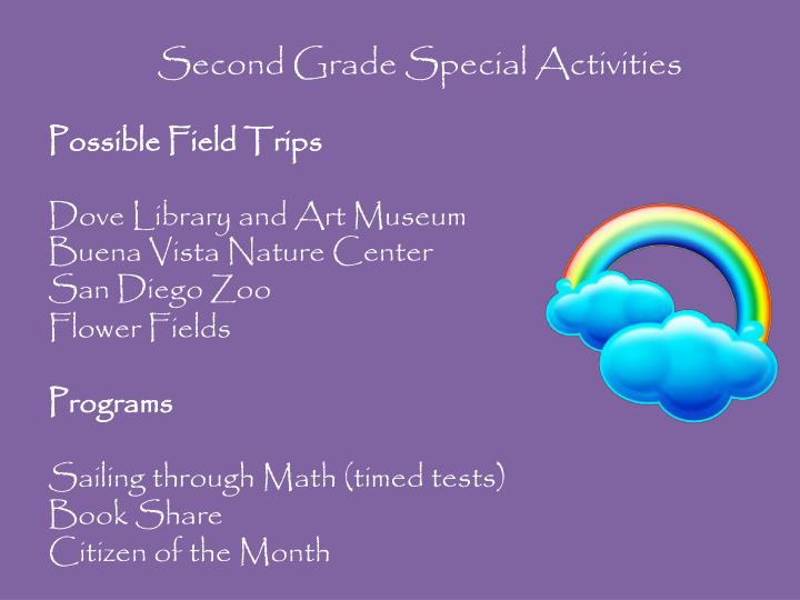 Second Grade Special Activities