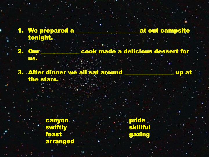 We prepared a ______________________at