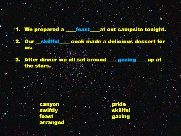 We prepared a ____