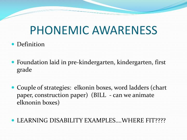 The Importance of Phonemic Awareness in Learning to Read
