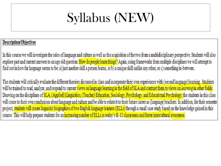 Syllabus (NEW)
