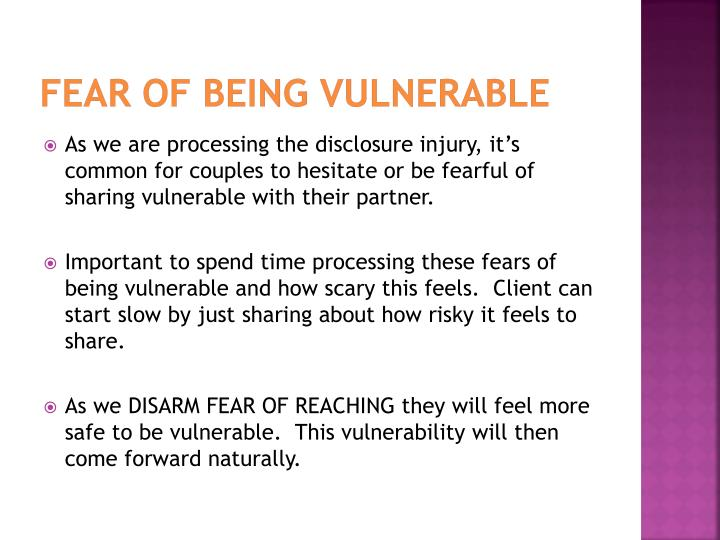 Fear of being vulnerable