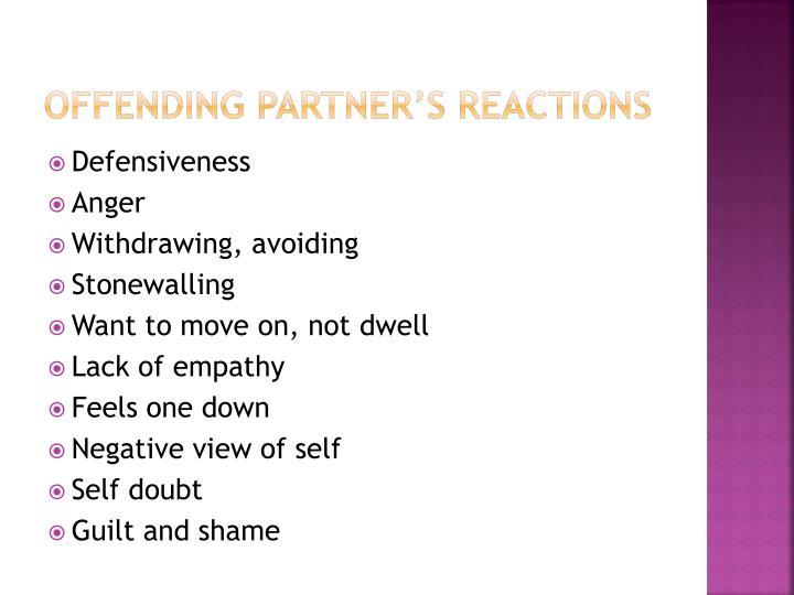 Offending partner's