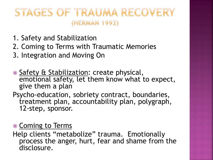 Stages of Trauma Recovery