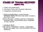 stages of trauma recovery herman 1992