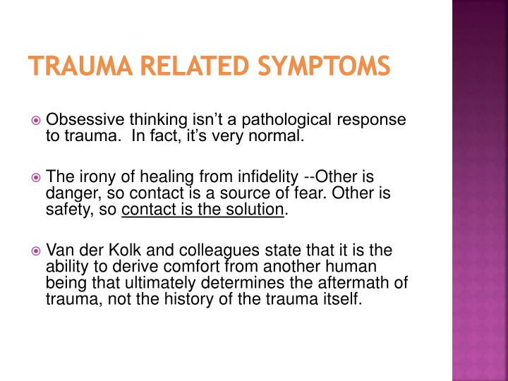 Trauma Related Symptoms