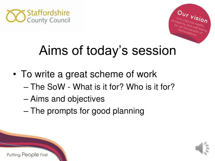 scheme of work and session planning The second practical assignment comes straight in off the first and will be forming the basis for your microteach exciting stuff you can catch up with the first practical assignment on producing a learning programme / scheme of work here as you probably need to get that one at least sketched out before you begin this.