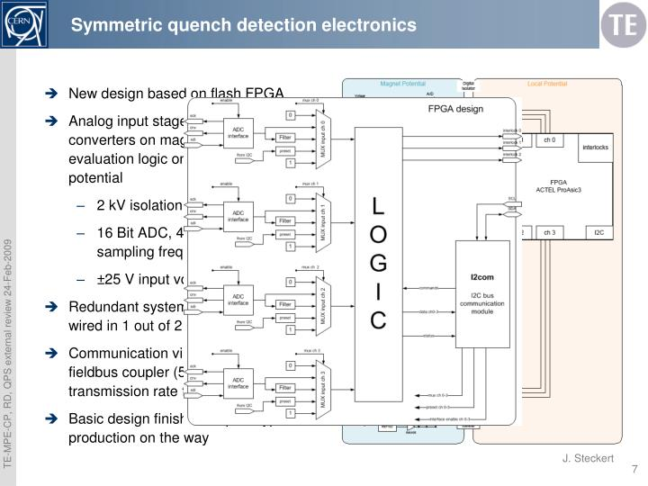 Symmetric quench detection electronics
