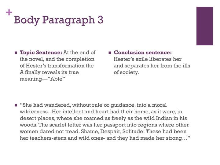 Body Paragraph 3