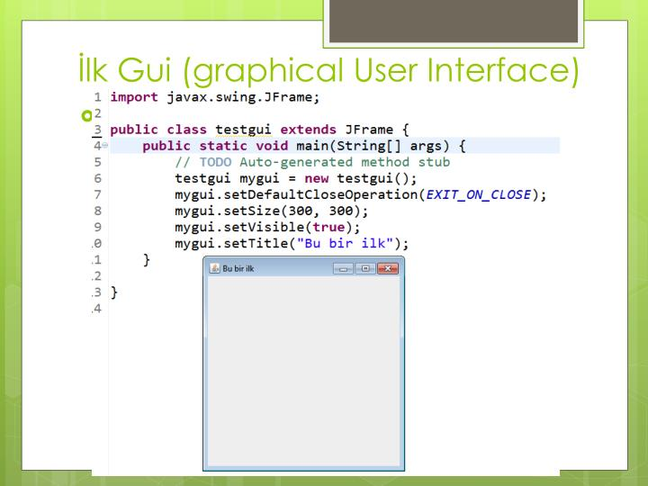 Lk gui graphical user interface