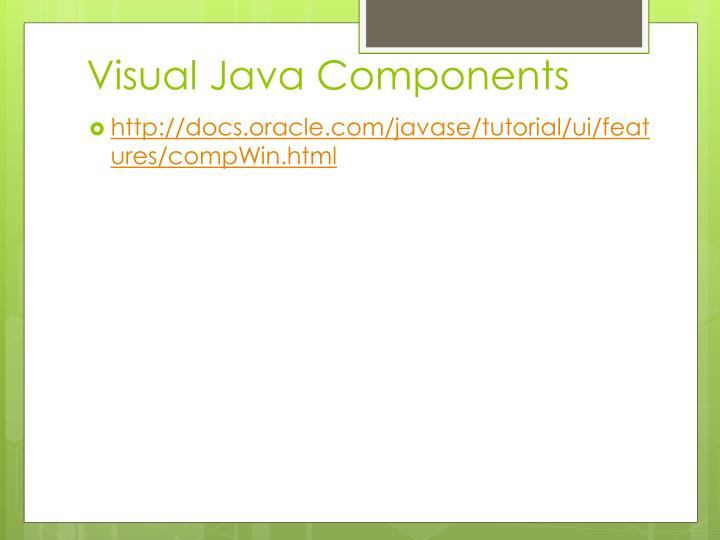 Visual Java Components