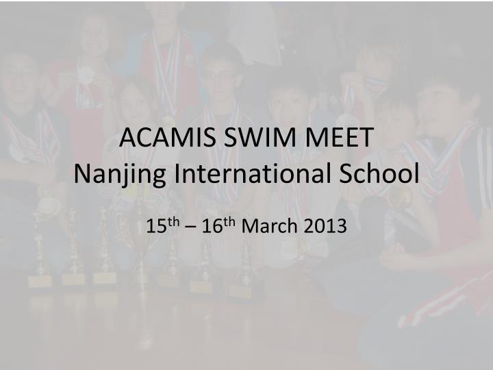 Acamis swim meet nanjing international school
