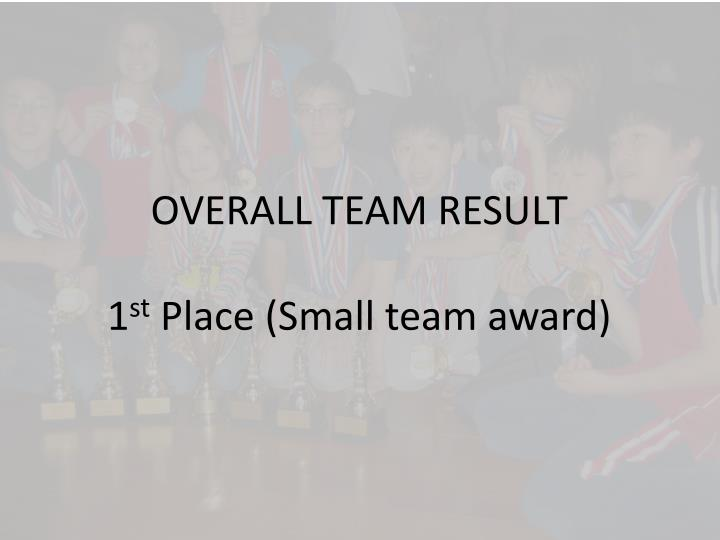 OVERALL TEAM RESULT