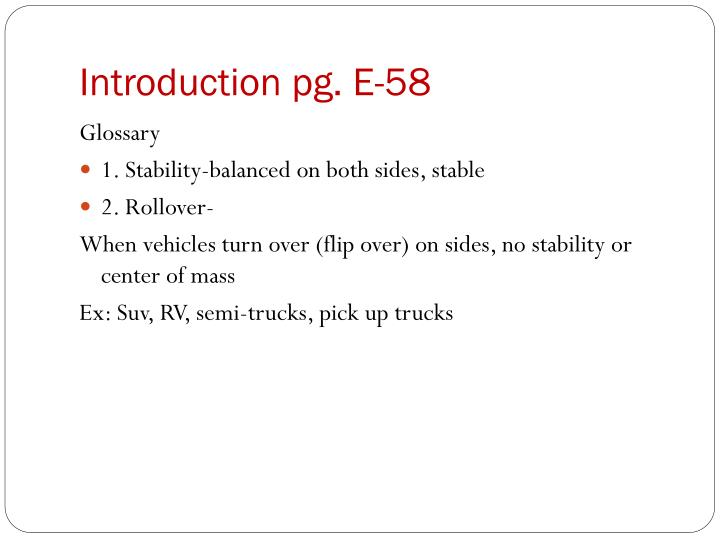 Introduction pg. E-58