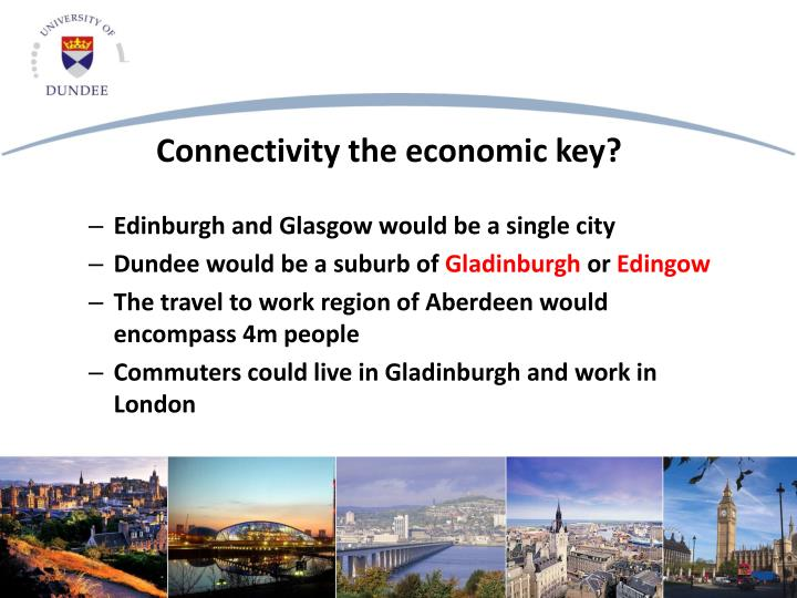 Edinburgh and Glasgow would be a single city