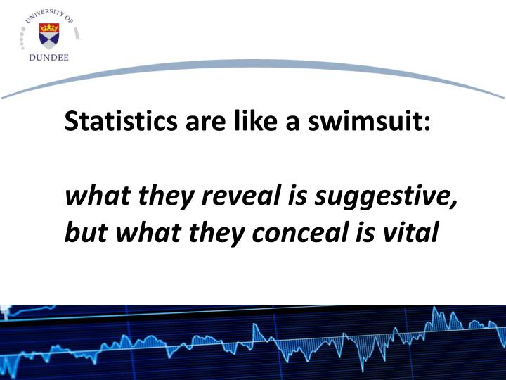 Statistics are like a