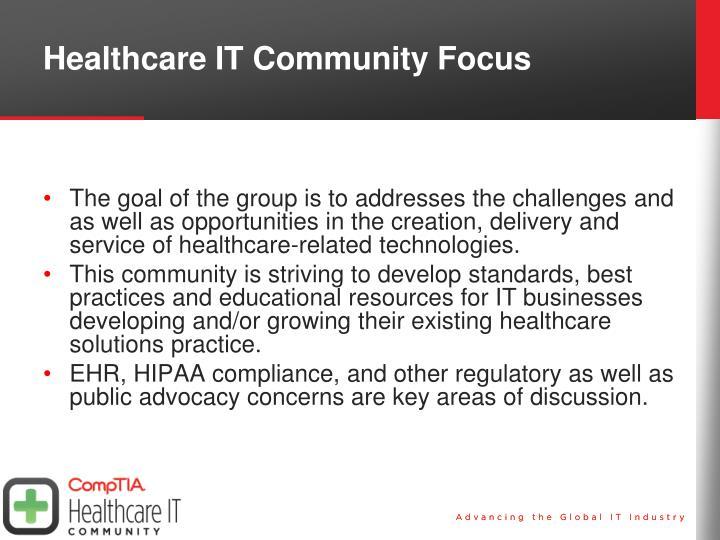 Healthcare IT Community Focus