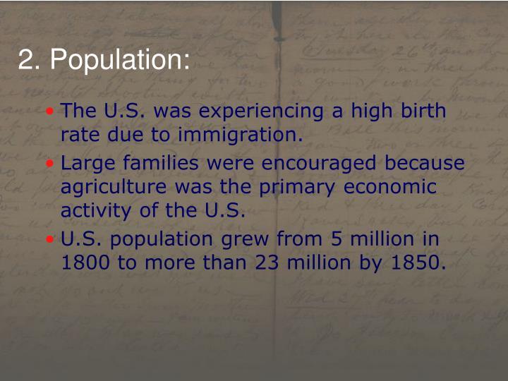 2. Population: