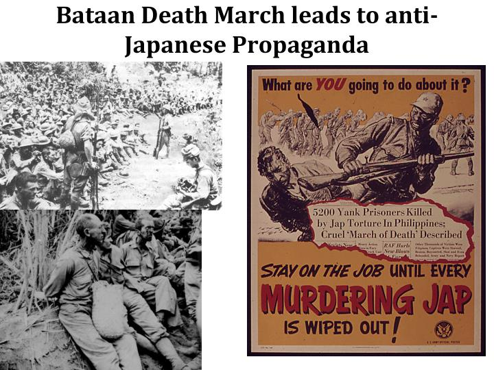 Bataan Death March leads to anti-Japanese Propaganda