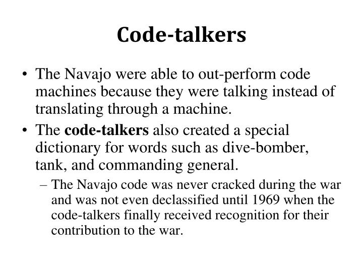 Code-talkers