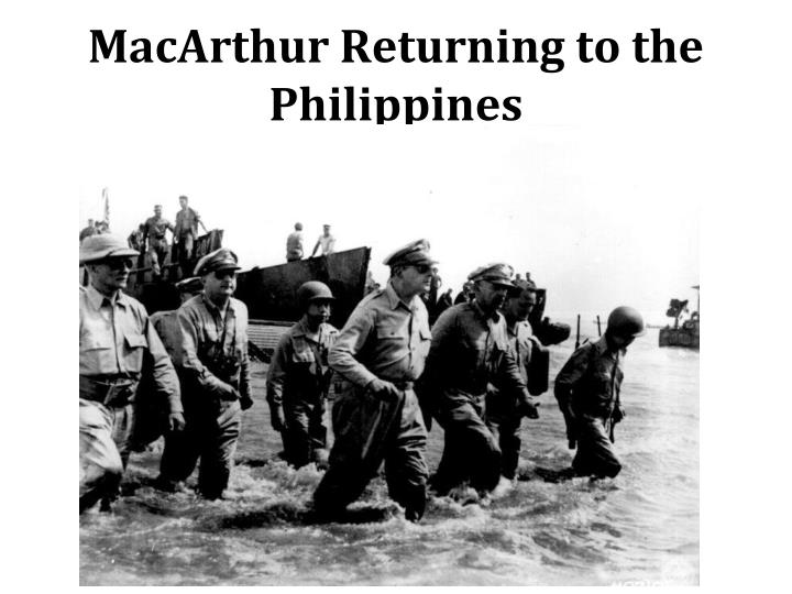 MacArthur Returning to the Philippines