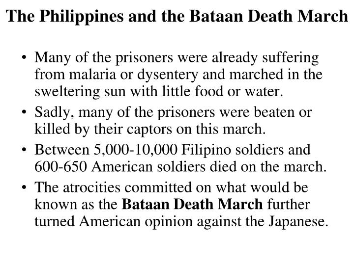 The Philippines and the Bataan Death March
