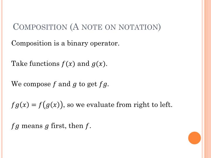Composition (A note on notation)
