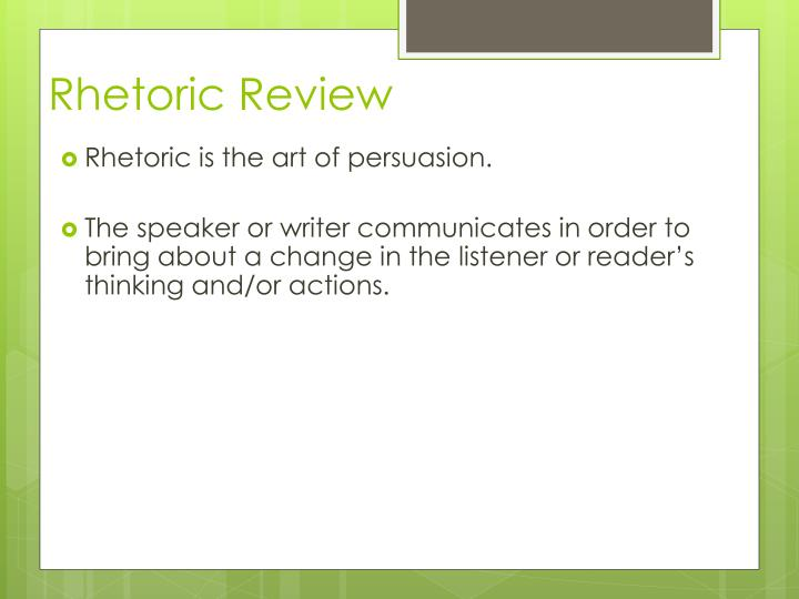 Rhetoric Review