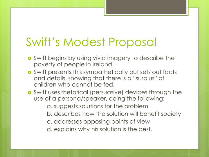 Swift's Modest Proposal