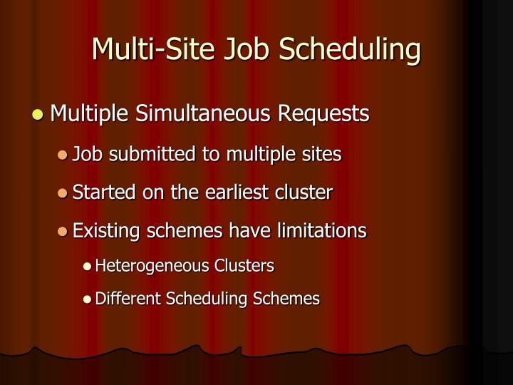 Multi-Site Job Scheduling