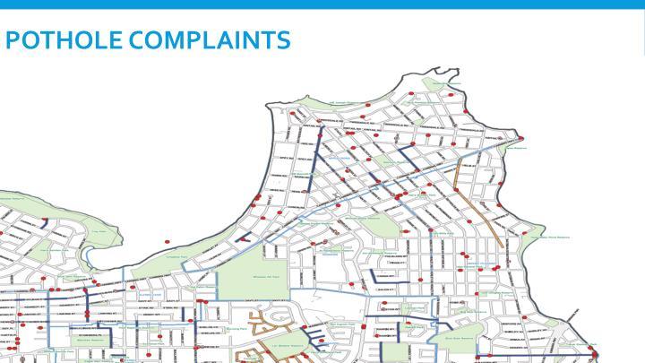 Pothole complaints
