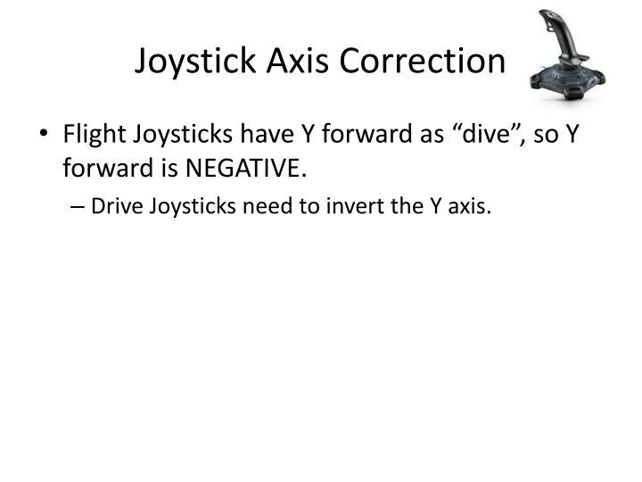 Joystick Axis Correction