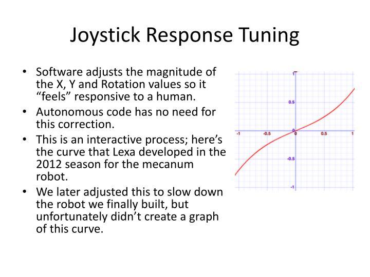 Joystick Response Tuning