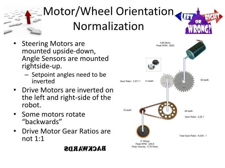 Motor/Wheel Orientation