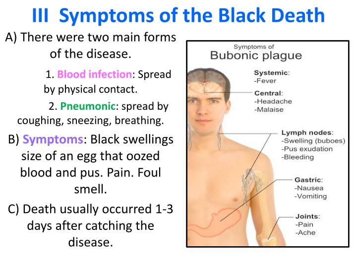 III  Symptoms of the Black Death