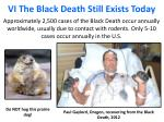vi the black death still exists today