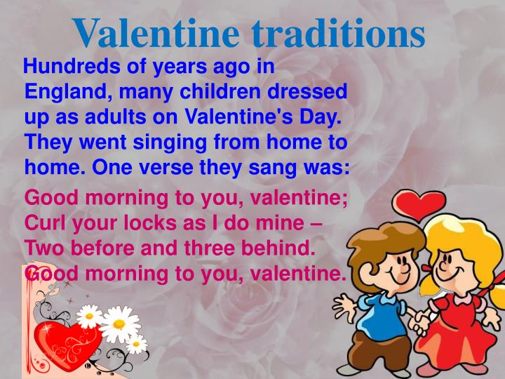 Valentine traditions